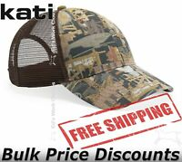 Kati Mens Oilfield Camo Mesh-Back Cap Hat Baseball OIL5M six-panel