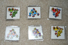 Lot of 12 cute frog temporary children's tattoos birthday party favor goody bags