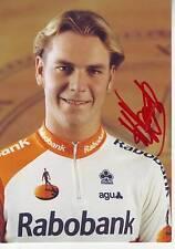 CYCLISME carte cycliste HENK VOGELS équipe RABOBANK 1996 signée