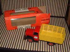 Bandai Nos Friction Drive, Tin & Plastic Stake Truck W/Original Box, Perfect!