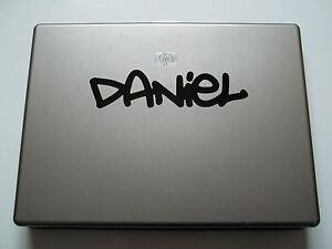 1 x Personalised Name Sticker for Laptops Vinyl Decal Graffiti 2 Font kids child