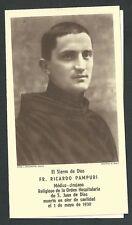 Estampa antigua Siervo Ricardo andachtsbild santino holy card santini