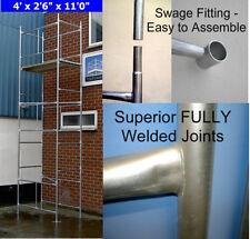"5.2m bricolage échafaudage tower & boards (4' x2'6"") inc planches en acier galvanisé"