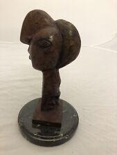 PICASSO STYLE BRONZE HEAD OF A WOMAN CAST BRONZE METAL SCULPTURE Bust