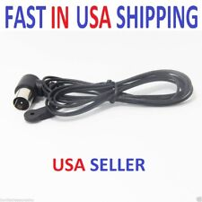 New Fm Antenna 5' Coax Male Push on F-Type Coaxial for Pioneer & other stereos