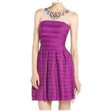 BCBG MAXAZRIA Marina Tiered A-Line Skirt Dress Magenta Purple size XXS, S , M