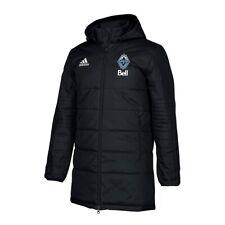 Vancouver Whitecaps FC MLS Team Crest Black Heavy Weight Full-Zip Winter Jacket