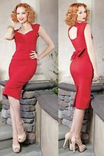 STOP STARING! Red LOVE Bow Retro Pinup Rockabilly Cocktail Party WIGGLE dress