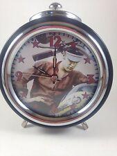 Elvis Presley Alarm Clock Metal Retro
