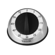Taylor PRO Stainless Steel Extra Long Ring 60 Minute Mechanical Timer