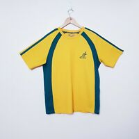 Wallabies Australia Rugby Mens Size L Large Green Yellow Tee T Shirt