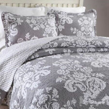Luxury 100% Cotton Coverlet / Bedspread Set Quilt Queen King Size Bed 230x250cm