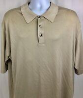 AXIS Men's Polo Shirt Size XL Beige 100% Silk