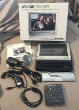 Archos 705 WiFi 160GB Media Player Case USB Headphones Guide Box Movies TV