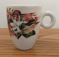 James Rosenquist ILLY espresso/coffee mug cup 2003 Italy Flowers Ideas 4""