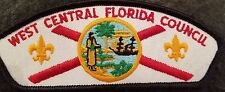 West Central Florida Council shoulder patch csp t-1 1st ISSUE Seminole, Florida
