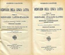 Georges Calonghi DIZIONARIO DELLA LINGUA LATINA 2 Voll.