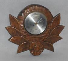 DDR Barometer Fischer Made in GDR Luftdruck Messer Messing Holz Gehäuse