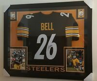 "Le'Veon Bell Signed Steelers 35""x43"" Custom Framed Jersey - JSA WITNESSED COA"
