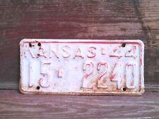 1944 Atchison County Kansas Vintage Tag