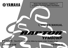 Yamaha Owners Manual Book 2002 Raptor 80 YFM80WP