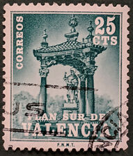 Stamp Spain 1971 25c Valencia Tax Stamp Used