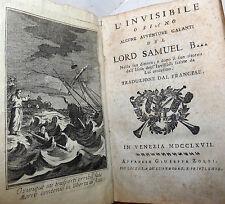 ROMANZO Avventura - L'Invisibile avventure galanti del Lord Samuel B. 1767 Zorzi