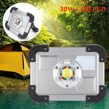 30W COB LED Portable Rechargeable Floodlight Spot Work Camping Outdoor Lawn