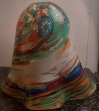 More details for vintage murano millifiori art studio glass lamp light shade italy