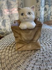 "1991 San Francisco Music Box Cat In Bag Song ""you Light Up My Life�"