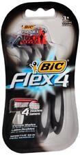 4 - 3 Count BIC Flex4 Men Disposable Four Blade Shaver Razor