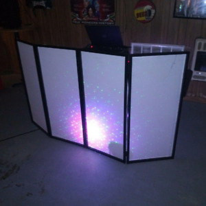 White/Black Scrim Metal Frame Booth +Travel Bag Case For DJ Event Facade