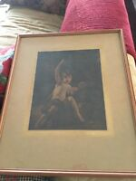 stunning Print - St John in the Wilderness -sir joshua Reynolds - 1929-FRAMED