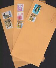 100 x prepaid $1.10 unfranked DLX KRAFT envelopes 120mm x 235mm FREE P&H