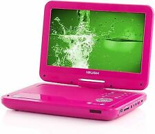 Bush 10 Inch Portable DVD Player - Pink TFT LCD Screen DVD Region 2 UK