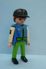 Playmobil SI-26 City Life Man Figure Hat Pilot Racing Mechanic Dollhouse 3220