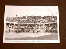 Arena di Roubaix 14 luglio 1899 Combattimento tra un leone ed un toro