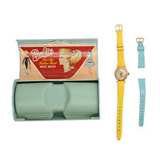 1964 Vintage Bradley Blond Swirl Ponytail Barbie Wrist Watch w/ extra blue band