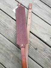 Leather Padded Gun Sling w/ Design - Made in USA