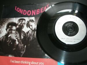 """Londonbeat I've Been Thinking About You b/w 9 A.M. 7"""" ANX 14 Injection Label"""
