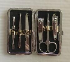 *Rare* Manicure Tools Kit Nail Care Fingernails Leopard Snap Case Nwot