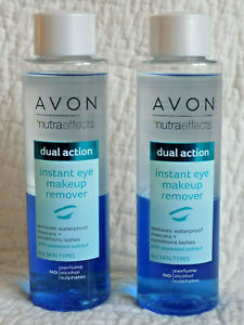 AVON ~ NUTRA EFFECTS ~ DUAL ACTION INSTANT EYE MAKEUP REMOVER ~ 2 x 125ml  *NEW*