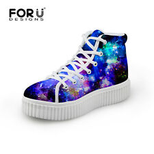 Galaxy Woman Ankle Boots Girls Thick Sole Winter Shoes Lightweight Creeper Shoe