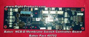 Baker Company NCB-D Membrane Switch Controller Board Baker Part 40702