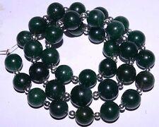 "K-0296 Green Aventurine Natural Gemstones Round Plain Loose Beads 9-10mm 16"" Str"