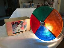 Vintage Holly Time Aluminum Christmas Tree Color Wheel - Rotating Light -Works!