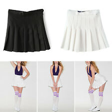New Fashion Womens Slim Thin High Waist Pleated Tennis Skirts Mini Dress Playful