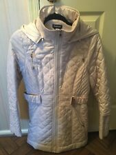 Bebe Winter Coat Size Medium Cream/beige Color