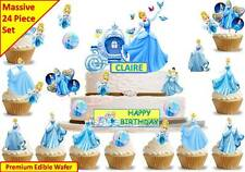 CINDERELLA PRINCESS Cup Cake Scene Topper Wafer Edible Birthday STAND UP CUSTOM