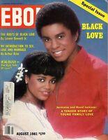 EBONY MAGAZINE-AUG 1981-BLACK LOVE-JERMAINE & HAZEL JACKSON-ARTHUR ASHE-JEALOUSY